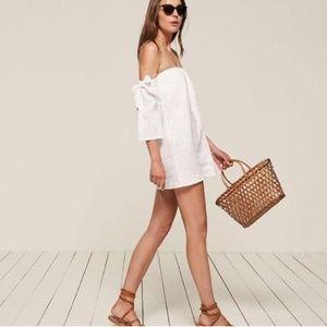 Reformation Linen White Carlita Dress M NEW